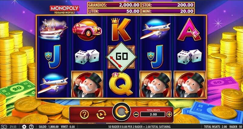 spela monopol på nätet med riktiga pengar - monopoly grand hotel