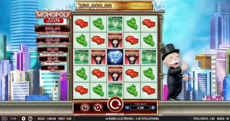 spela monopol på nätet med riktiga pengar - monopoly 250k