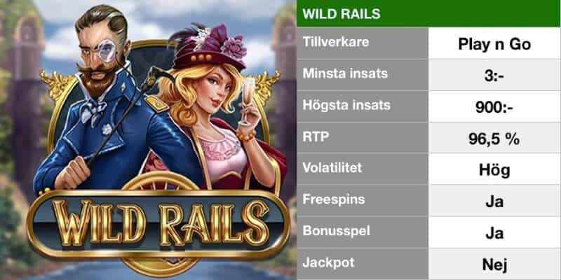 populära slotsspel - wild rails info