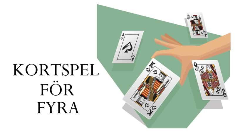 kortspel för fyra - 4 personer