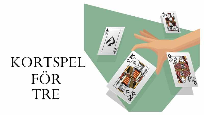 kortspel för tre - 3 personer