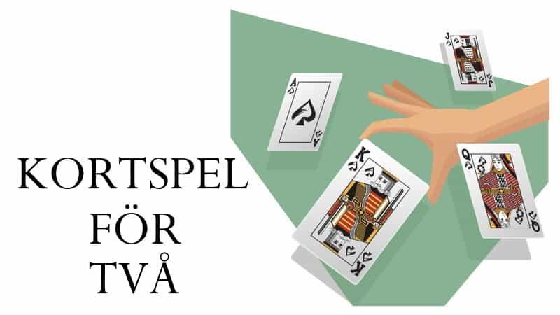 kortspel för två - 2 personer