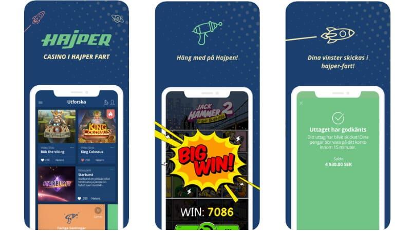 hajper casino mobilcasino app