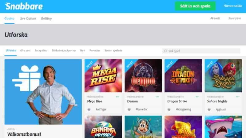 snabbare casino spelutbud slots