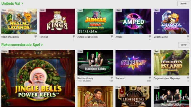 unibet casino - slots - spelautomater