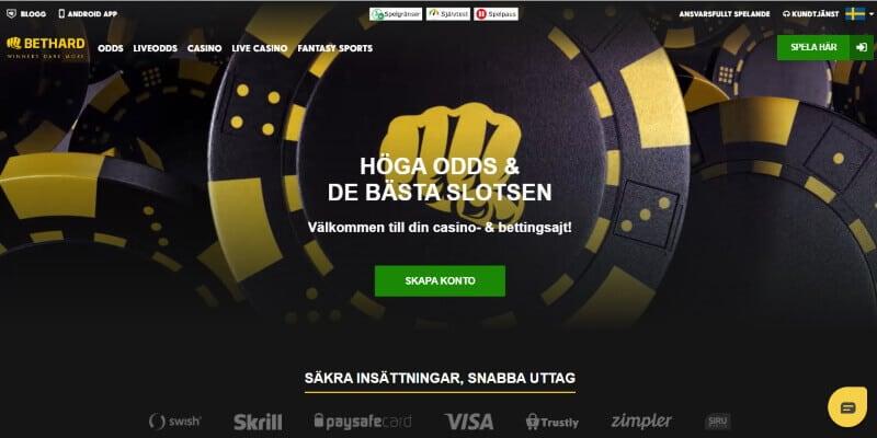 bethard casino registrering logga in