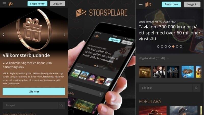 storspelare mobil app