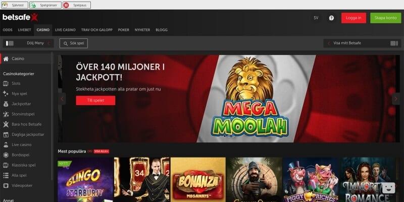 betsafe casino slots
