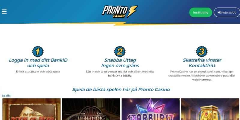 pronto-casino-registrering