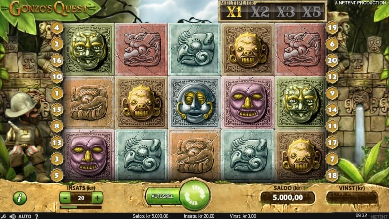slots med bäst bonusspel - gonso´s quest